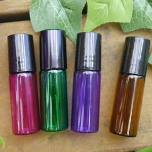 5ml Coloured Glass Roller Bottles