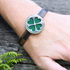 clover aromatherapy diffuser bracelet